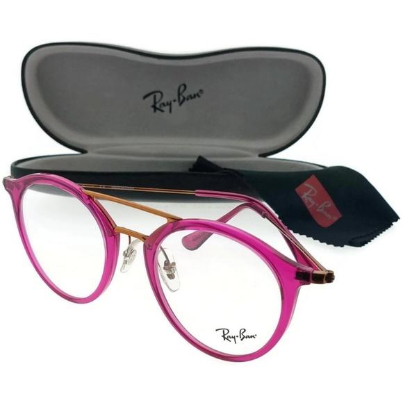 8528e86cf01 RX7097-5631 Unisex Purple Frame Eyeglasses